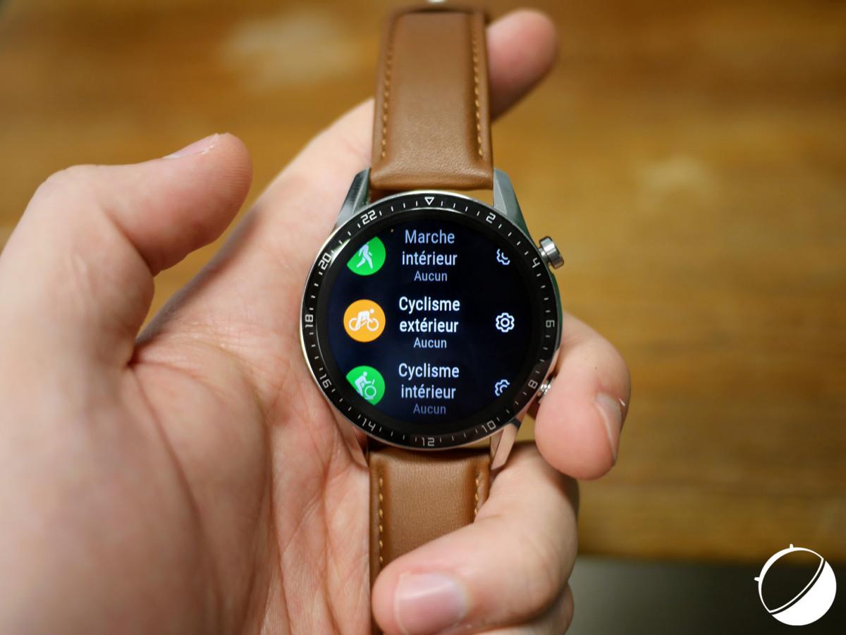 Le suivi d'activité sur la Huawei Watch GT 2