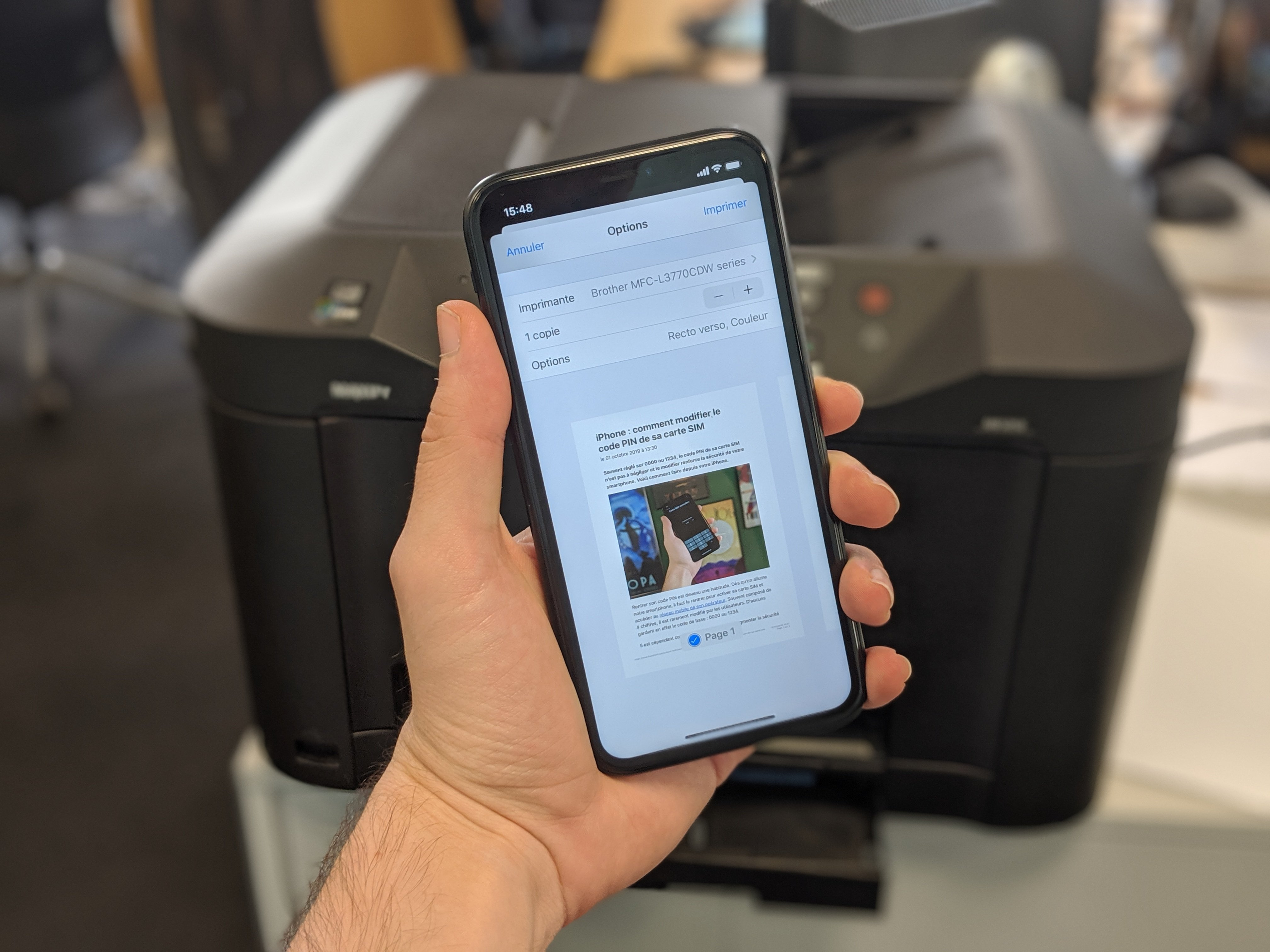 Comment imprimer un document sans fil depuis son iPhone ou son iPad
