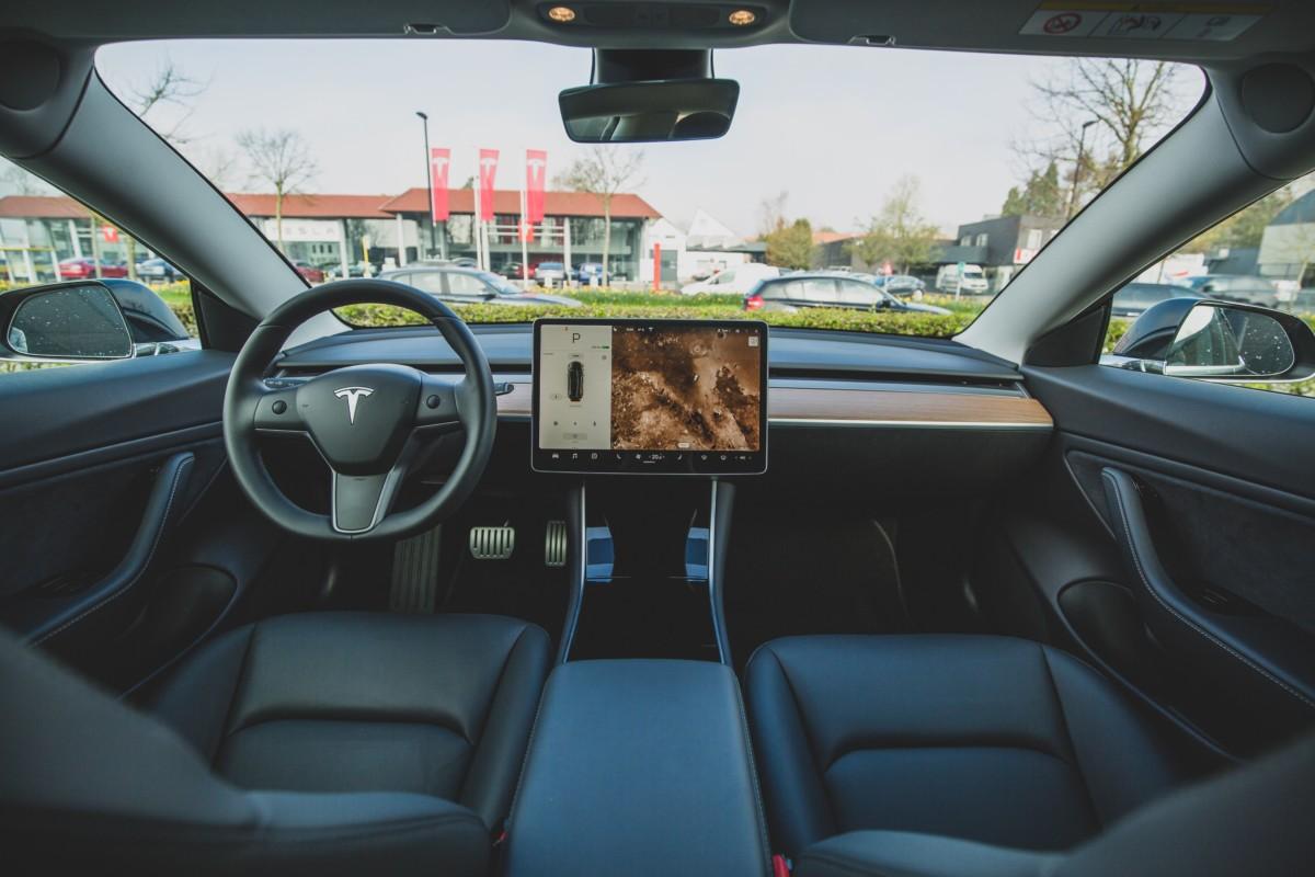 L'intérieur de la Tesla Model 3