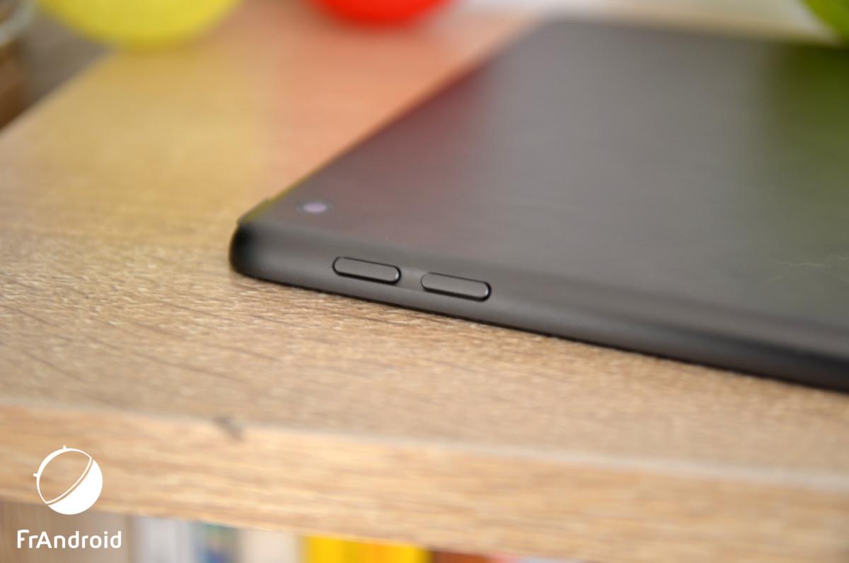 Les boutons de volume de l'iPad 7 (2019)