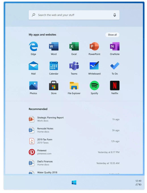 Le lanceur de Windows 10X