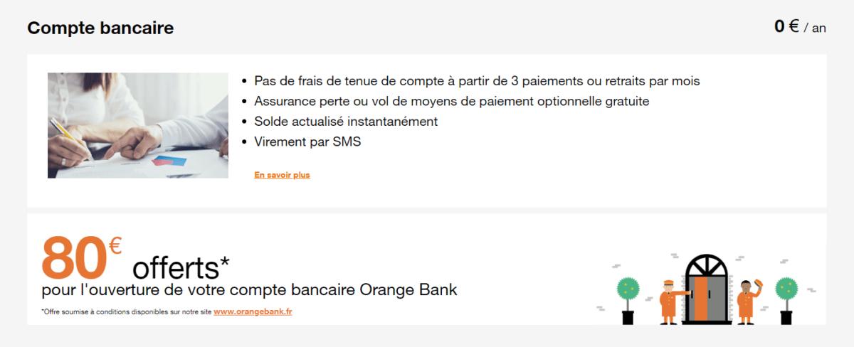 L'offre gratuite d'Orange Bank résumée en quelques points.
