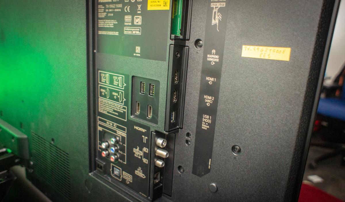 La connectique du TX-55GZ1500