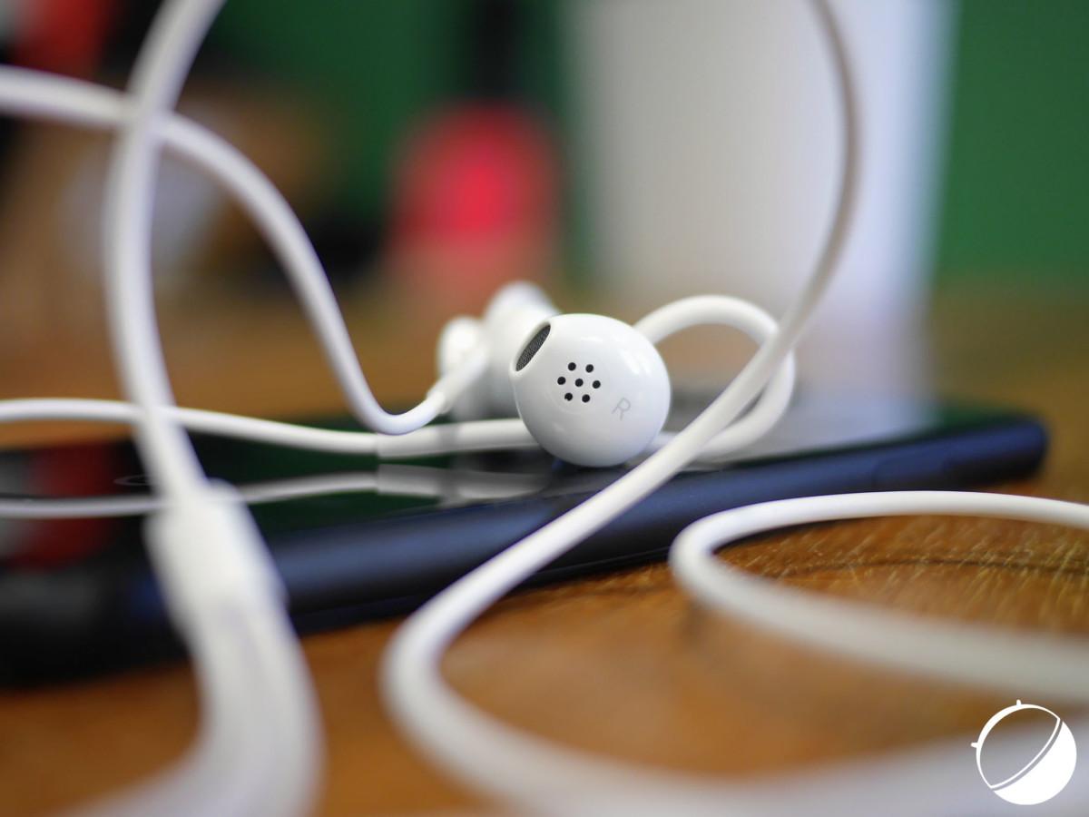Les écouteurs USB-C fournis avec le Google Pixel 4