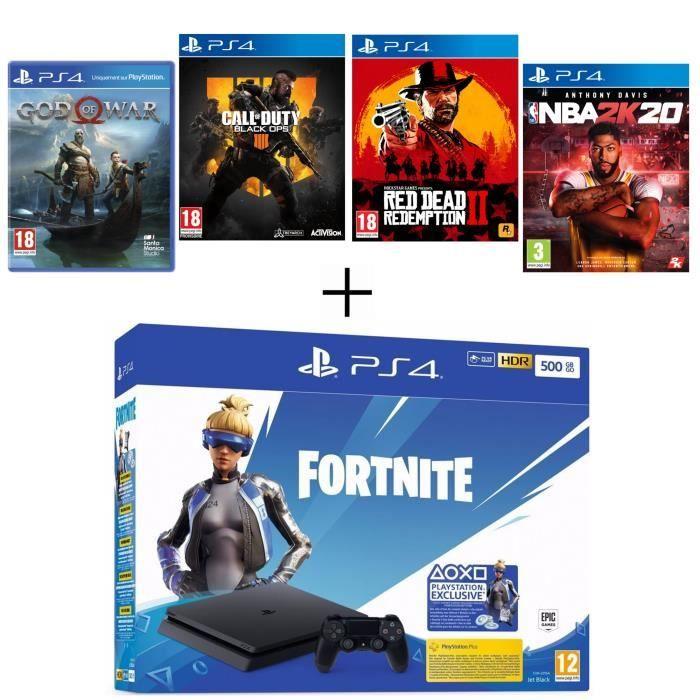 Ce pack PS4 Slim est parfait pour débuter : 299 euros avec 4 jeux AAA