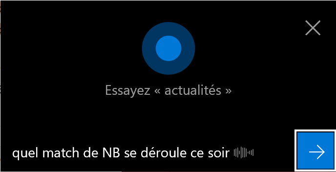 Selon les requêtes, Cortana vous répondra directement ou vous dirigera vers une recherche Bing