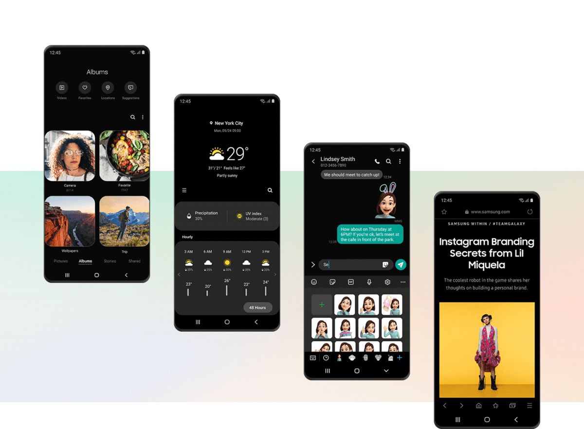 samsung one ui 2 0 dark mode theme sombre 1200x881 - Samsung One UI 2.0: here are the novelties of the interface described by the brand - FrAndroid