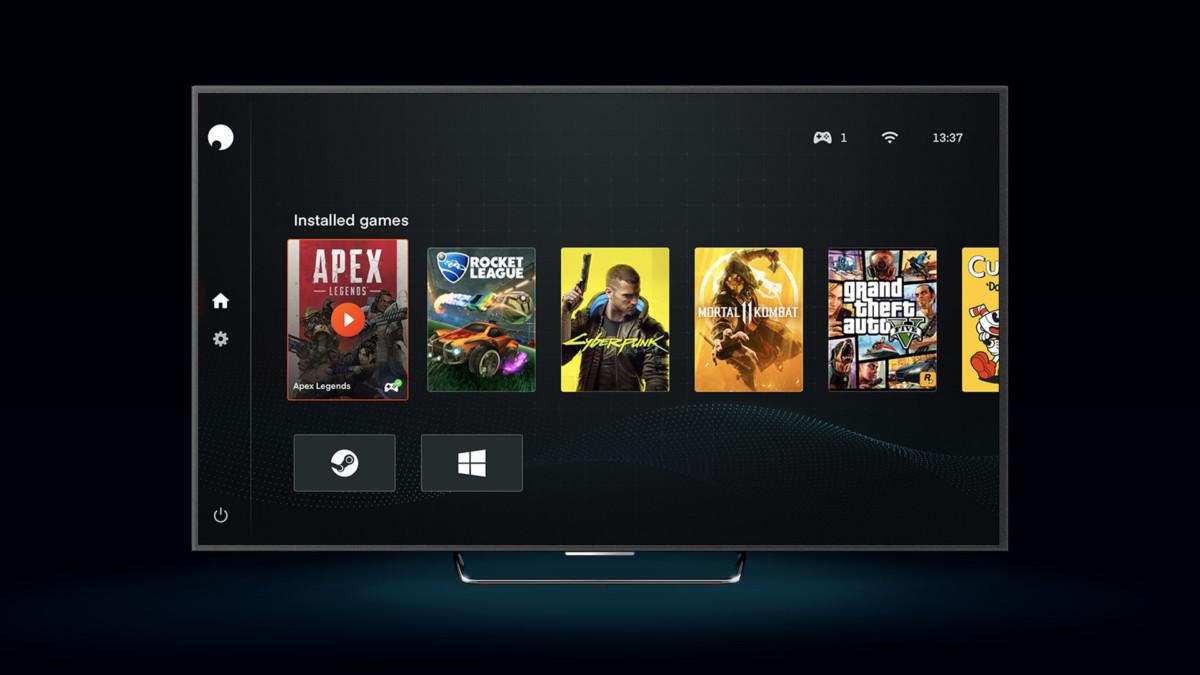 Nouvelle interface de Shadow sur TV