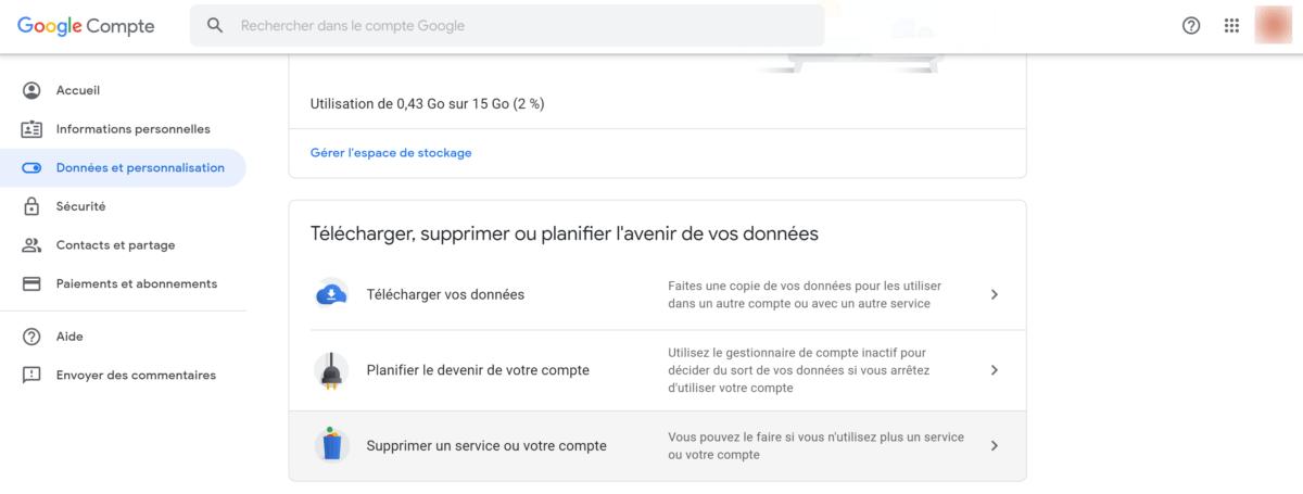 Comment supprimer son compte Google (Gmail)