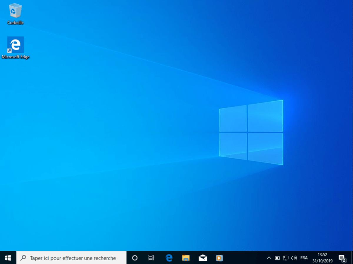 Le bureau Windows 10