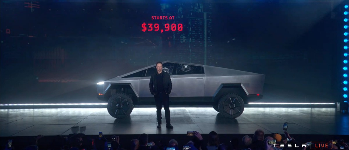 Le Tesla Cybertruck, présenté en novembre 2019