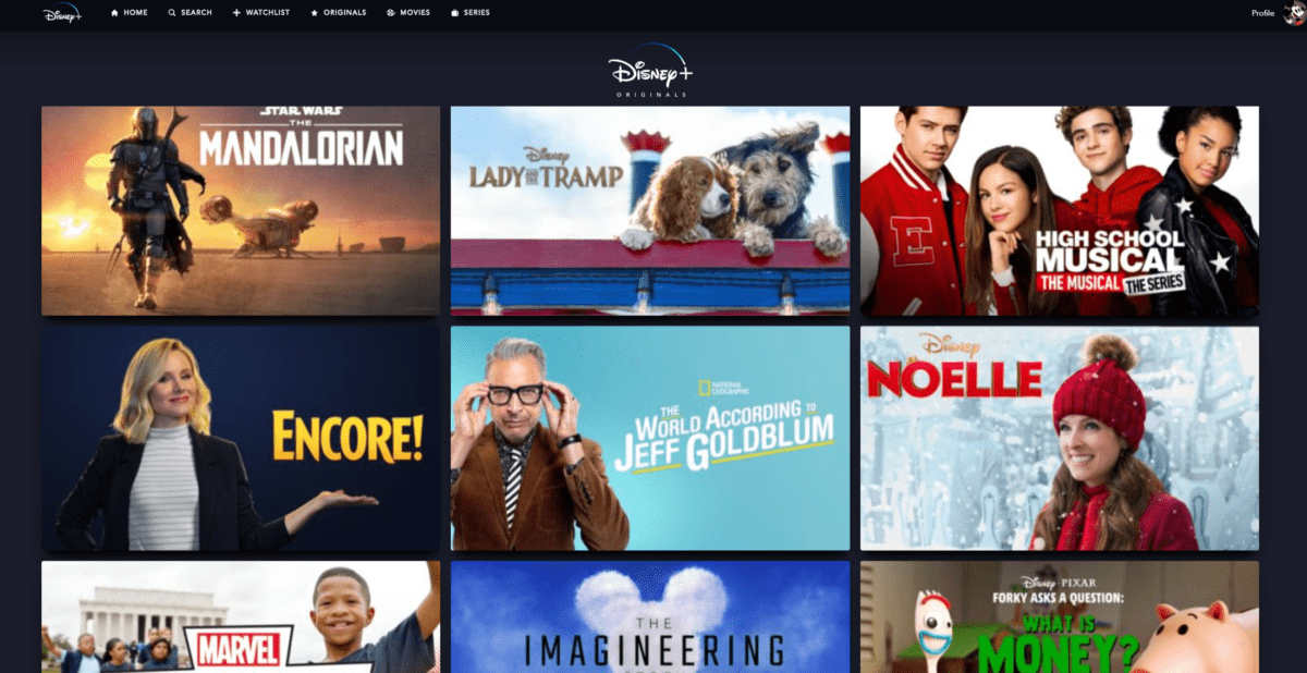 Quelques films disponibles sur Disney+