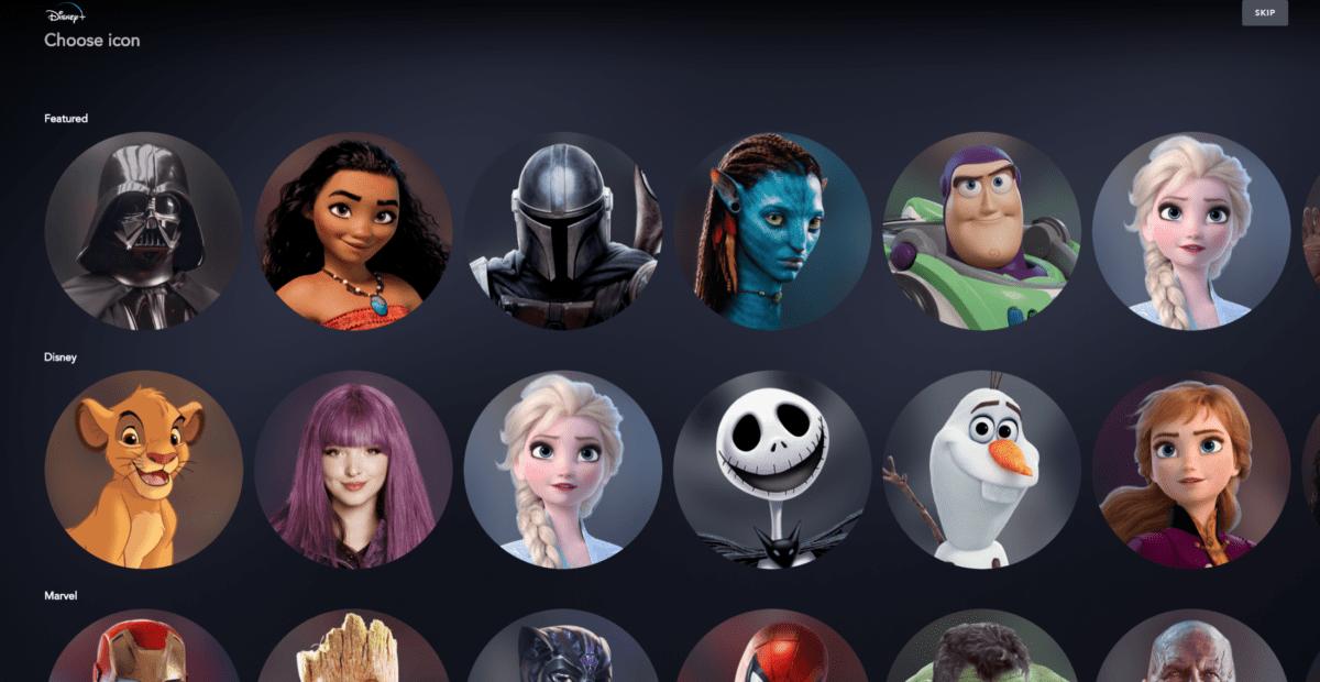 Les avatars disponibles pour vos profils