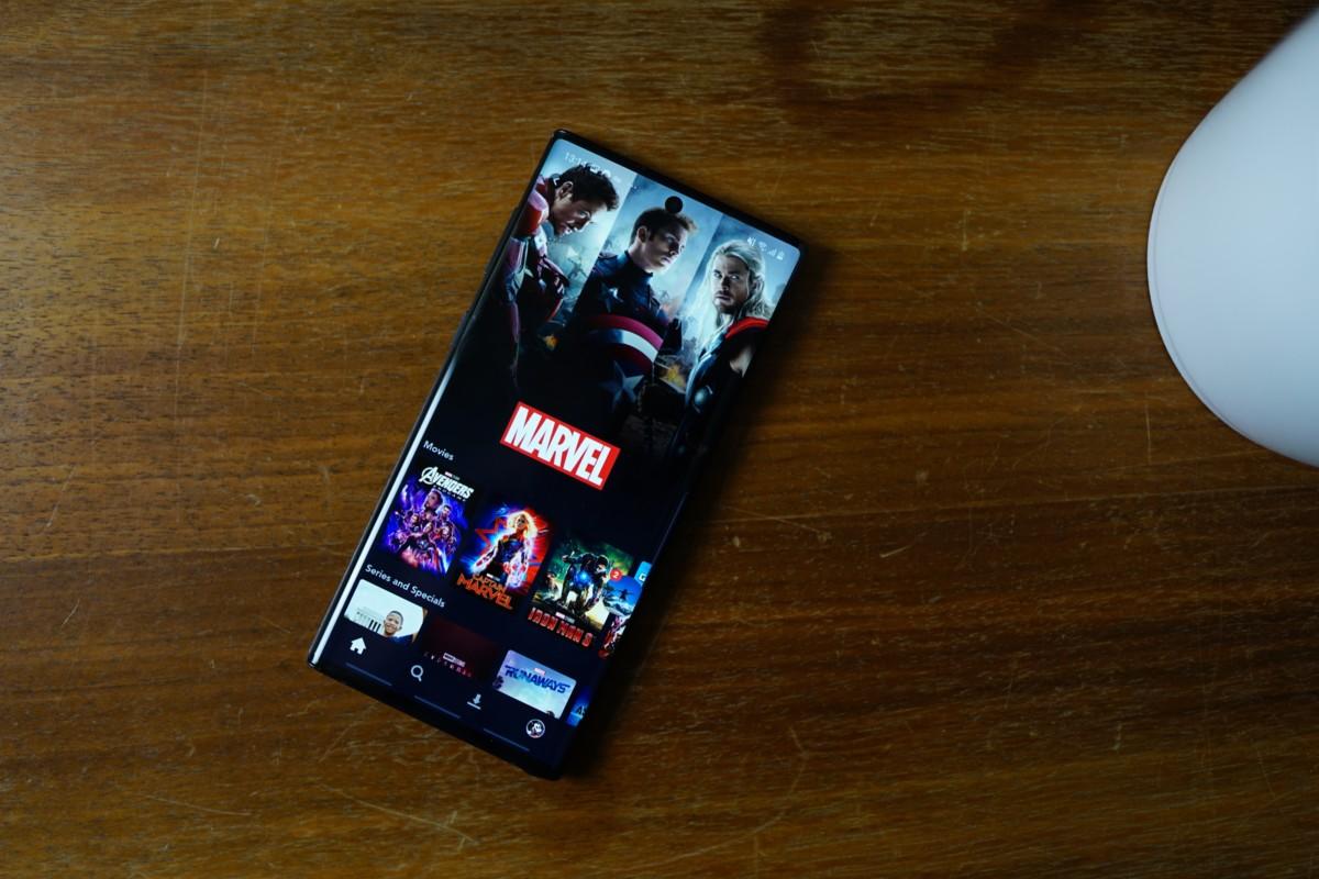 Disney+ sur smartphone