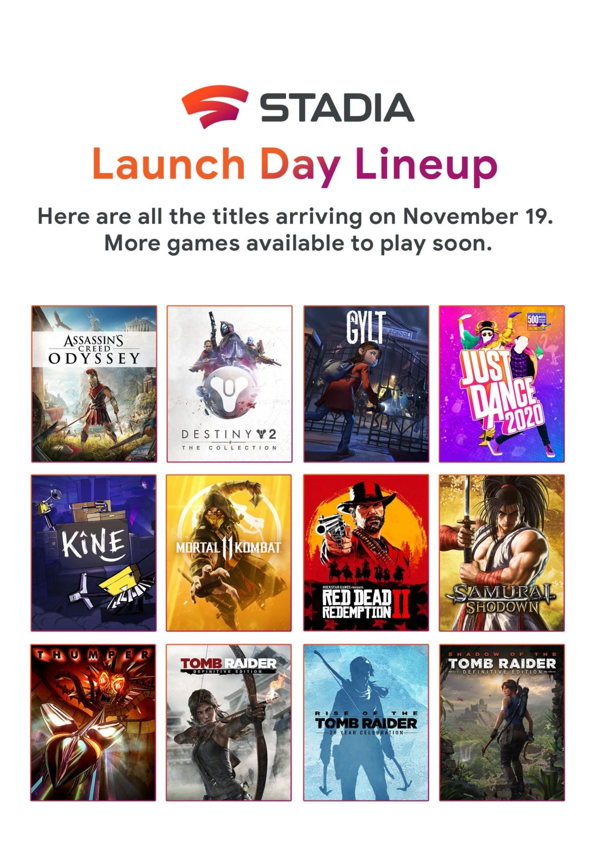 Voici le line-up Google Stadia, 12 jeux pour le lancement et la liste des jeux prévus en 2020