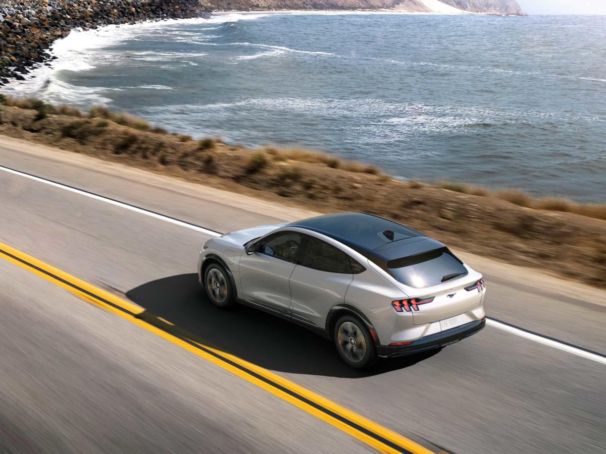 Le SUV électrique Ford Mach E en guise d'image d'illustration
