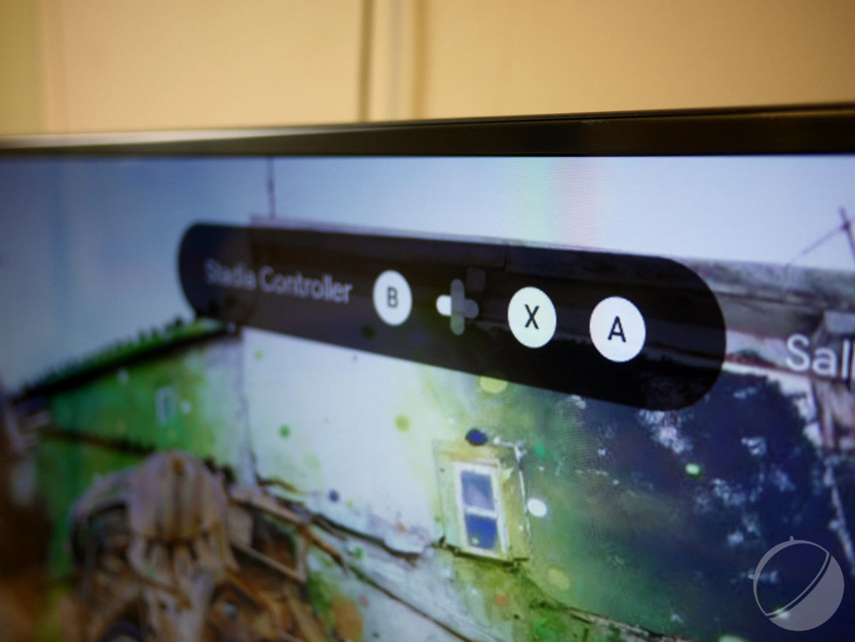 Message d'appairage affiché sur le Chromecast