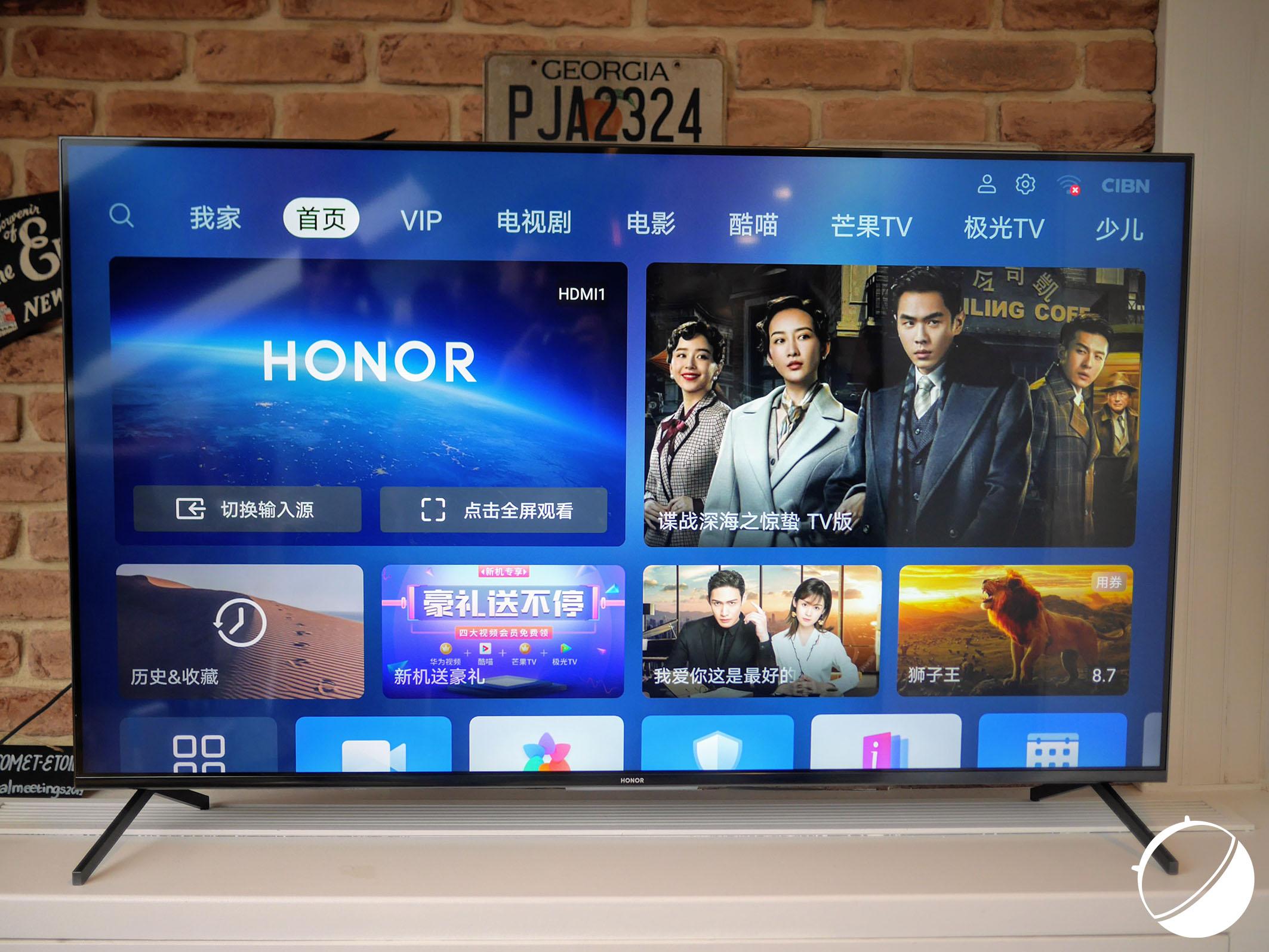 Honor Vision : nos photos du téléviseur de Honor sous Harmony OS