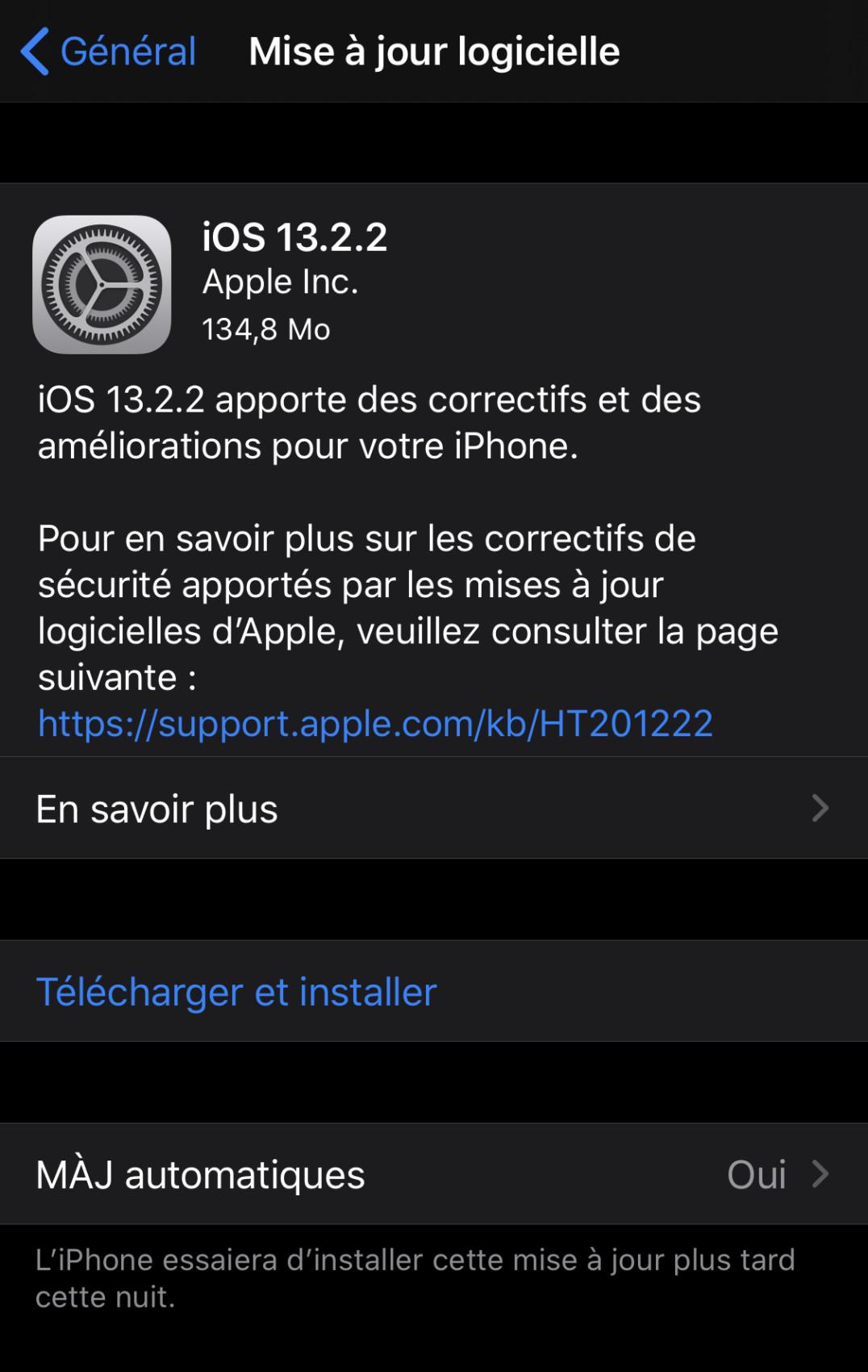 Ce n'était pas vous, iOS et iPadOS 13.2.2 corrigent le bug du multitâche