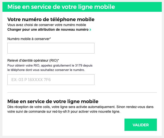 Lors de la souscription, RED by SFR vous demande votre identifiant RIO afin de conserver le même numéro de téléphone mobile et de résilier l'ancienne offre.