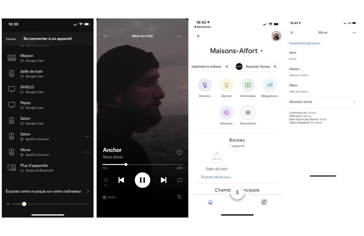 Intégration sur Google Assistant et l(application Spotify