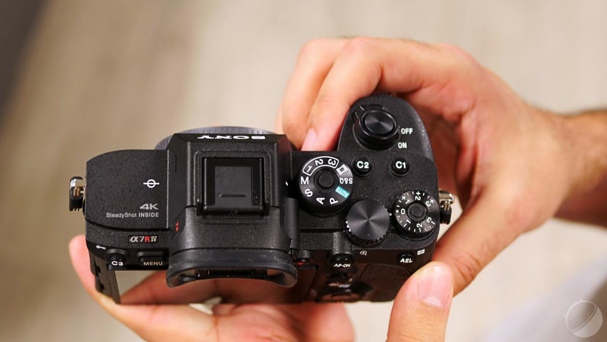 Les molettes de réglage du Sony A7R iv