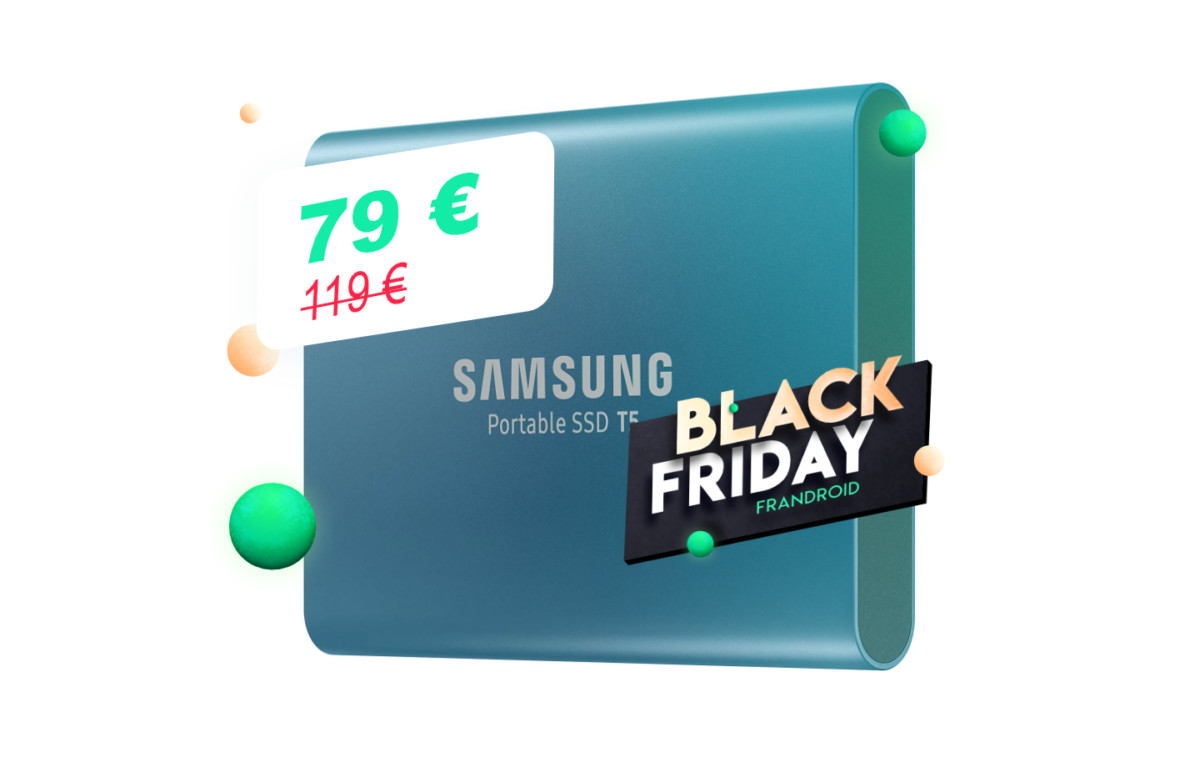 Le SSD externe SamsungT5 (500Go ou 1To) s'affiche à prix réduit pour le Black Friday
