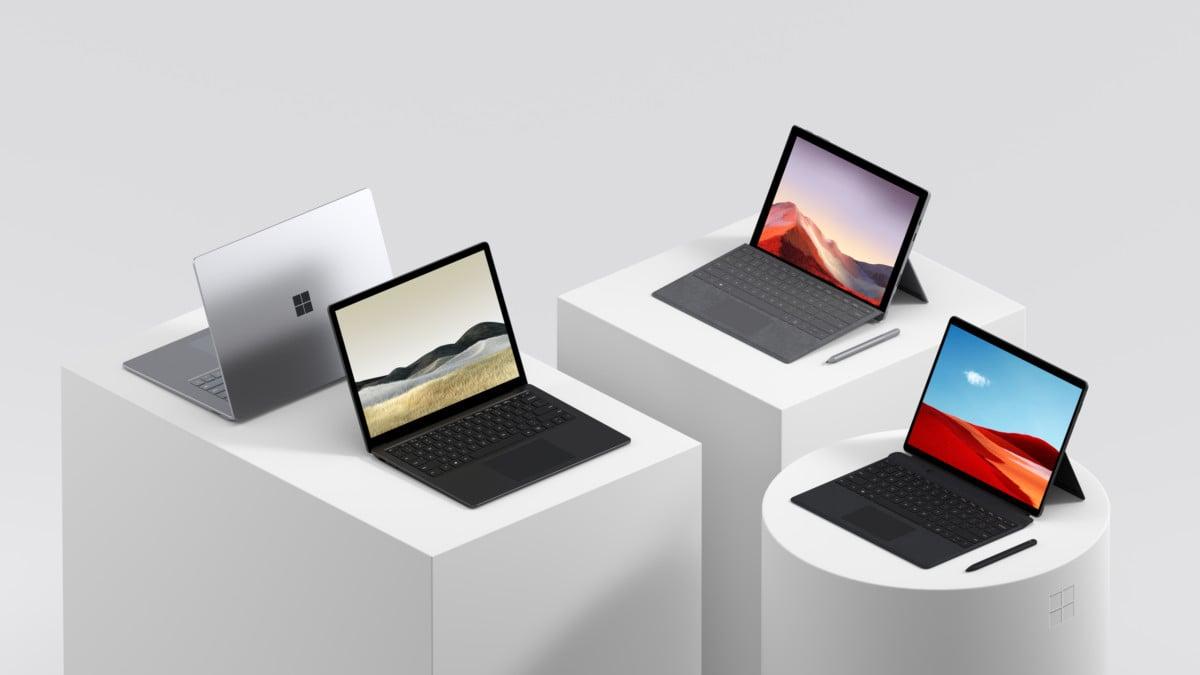 La gamme Surface a été presque entièrement renouvelée pendant le trimestre