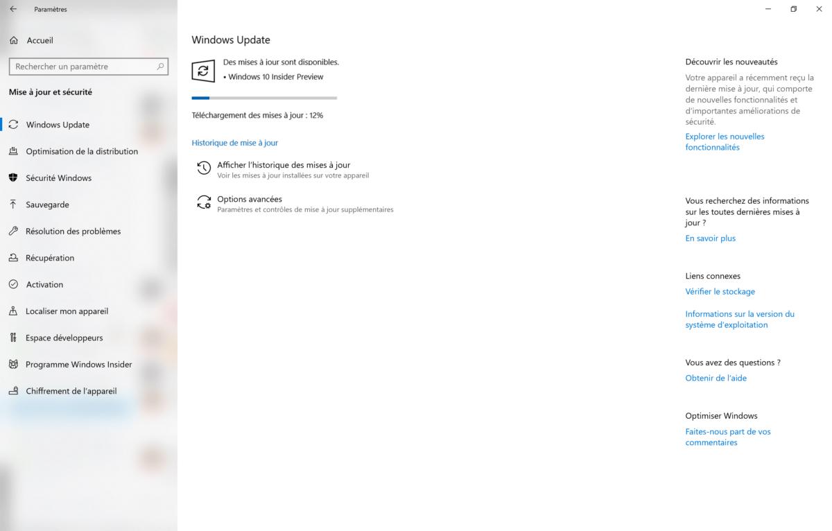 Windows 10 : comment télécharger les mises à jour en avance avec le programme Insider