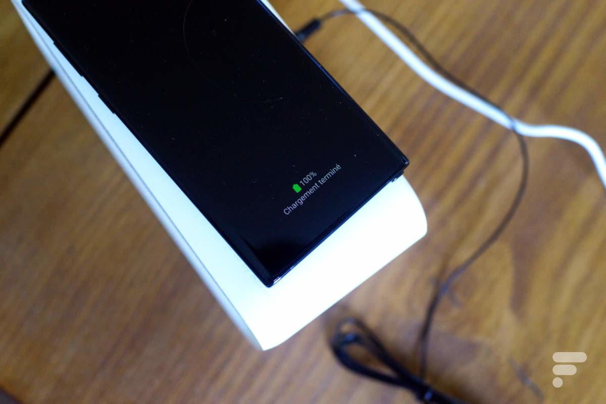 La charge est complète sur le Galaxy Note 10