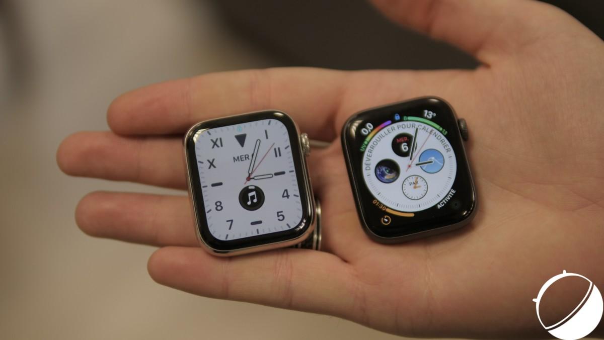 Apple Series5 Acier et Apple Series4 Aluminium