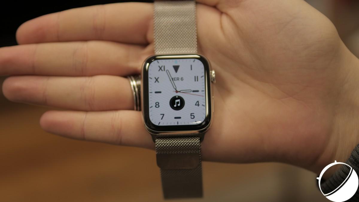 L'Apple Watch 5 // Crédit : Frandroid