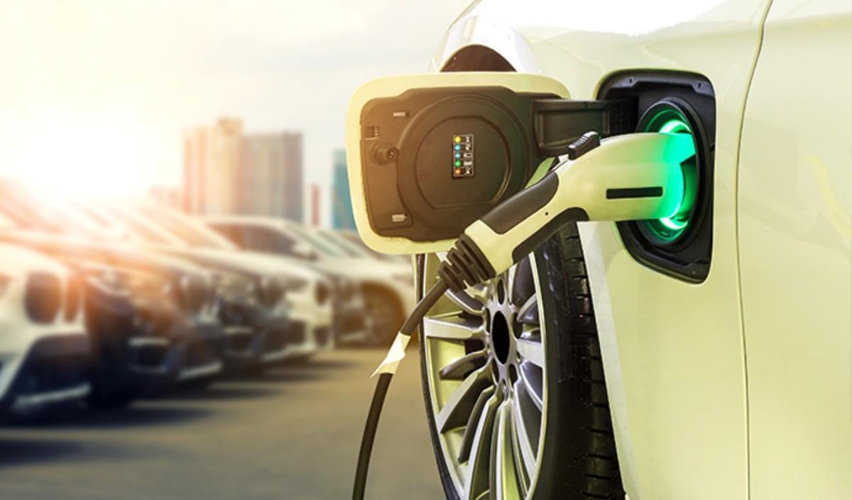 Trappe de recharge d'une voiture électrique