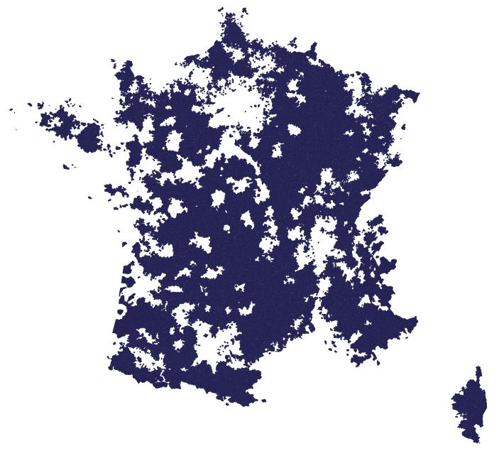 En bleu, la zone de déploiement prioritaire
