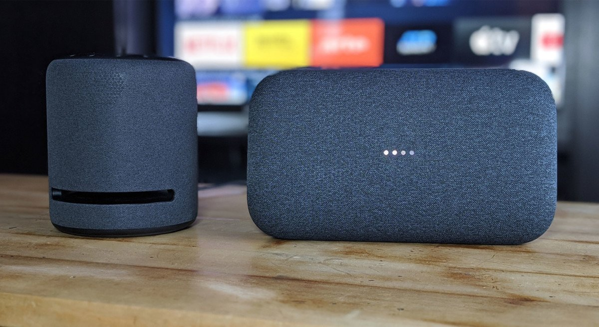 Amazon Echo Studio et Google Home Max