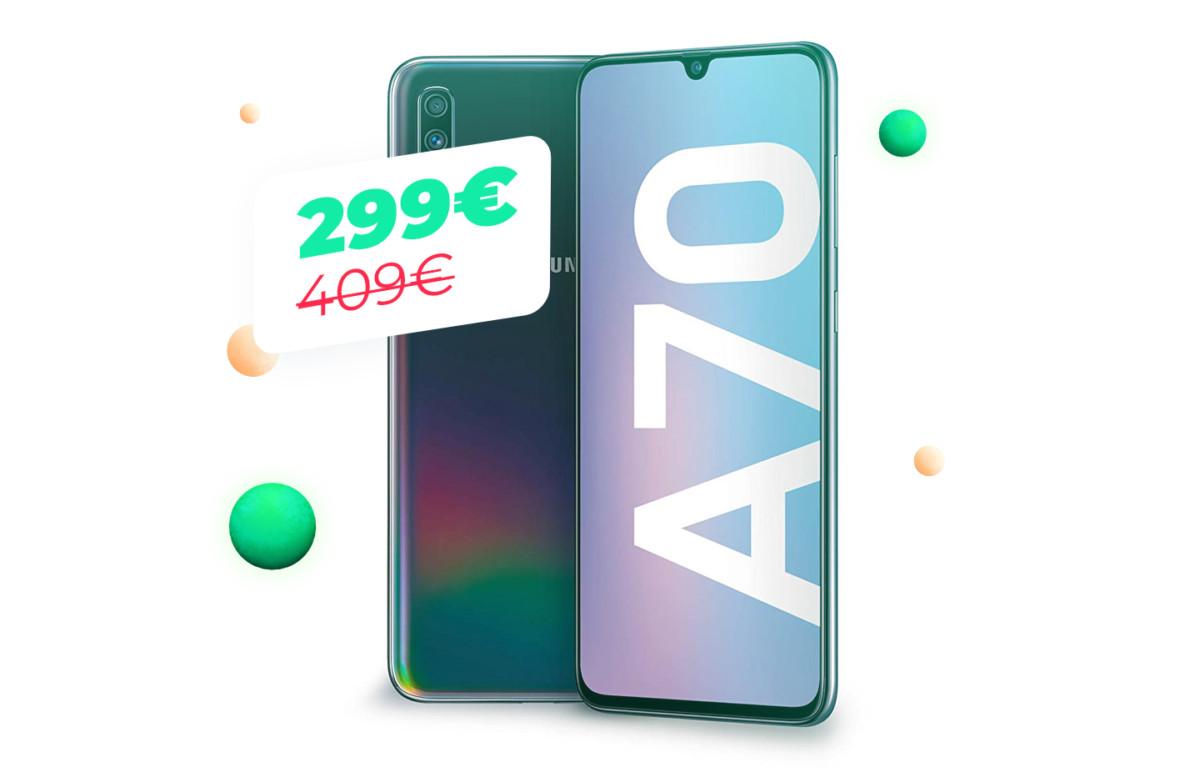 Pour le Cyber Monday, le Galaxy A70 passe sous la barre des 300 euros
