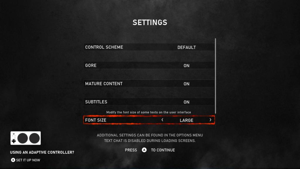 Gears5 gère l'Adaptive Controller, et a été applaudi pour ses nombreuses options d'accessibilité. Crédit: Can I Play That