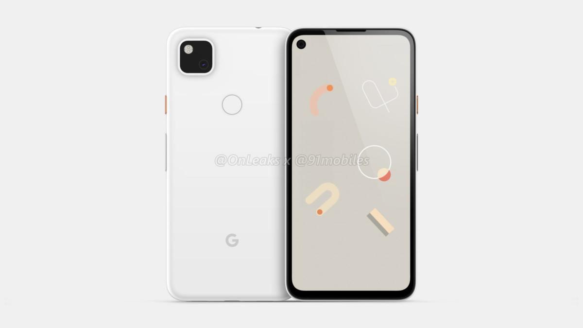 Rendu du Google Pixel4a