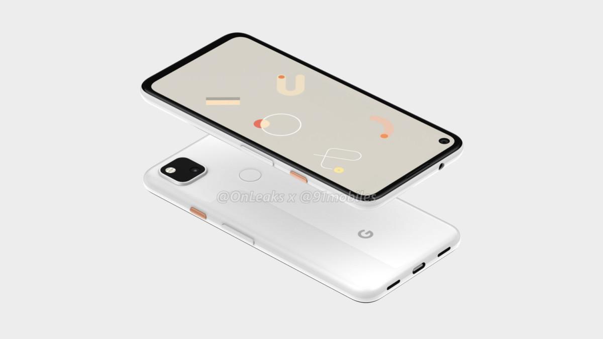 Rendu 3D du Google Pixel 4a