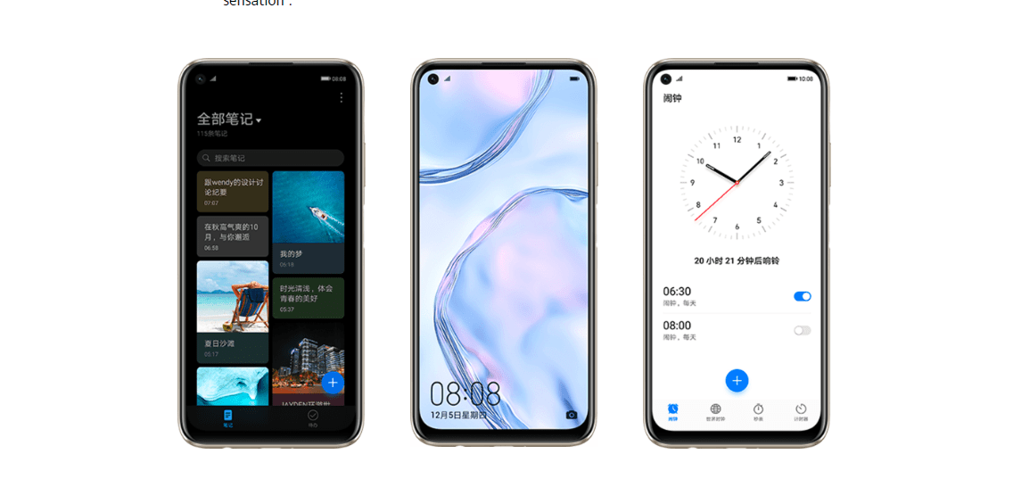 Interface EMUI 10 basée sur Android 10