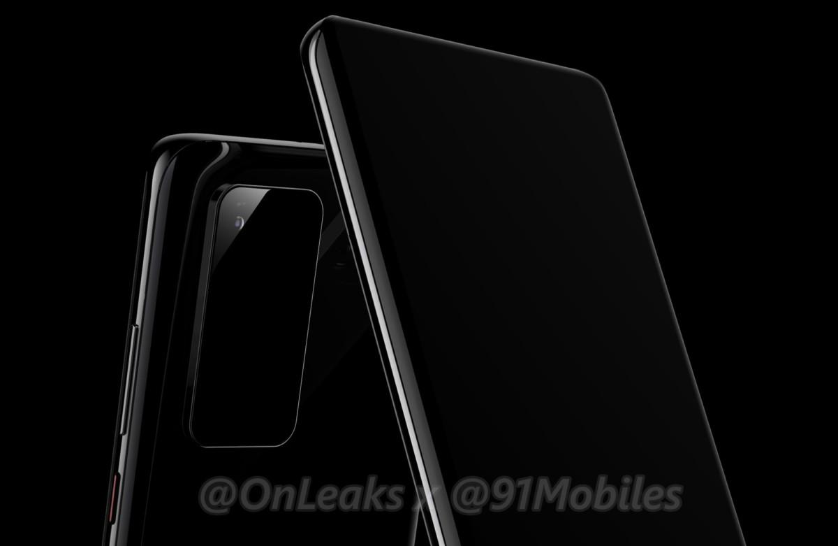 Rendu 3D du Huawei P40 par OnLeaks et 91Mobiles
