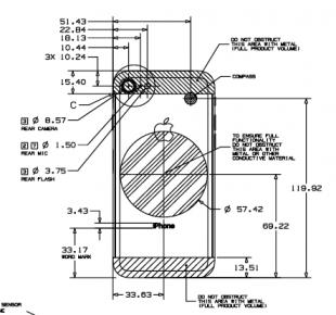 Le schéma de l'iPhone 9
