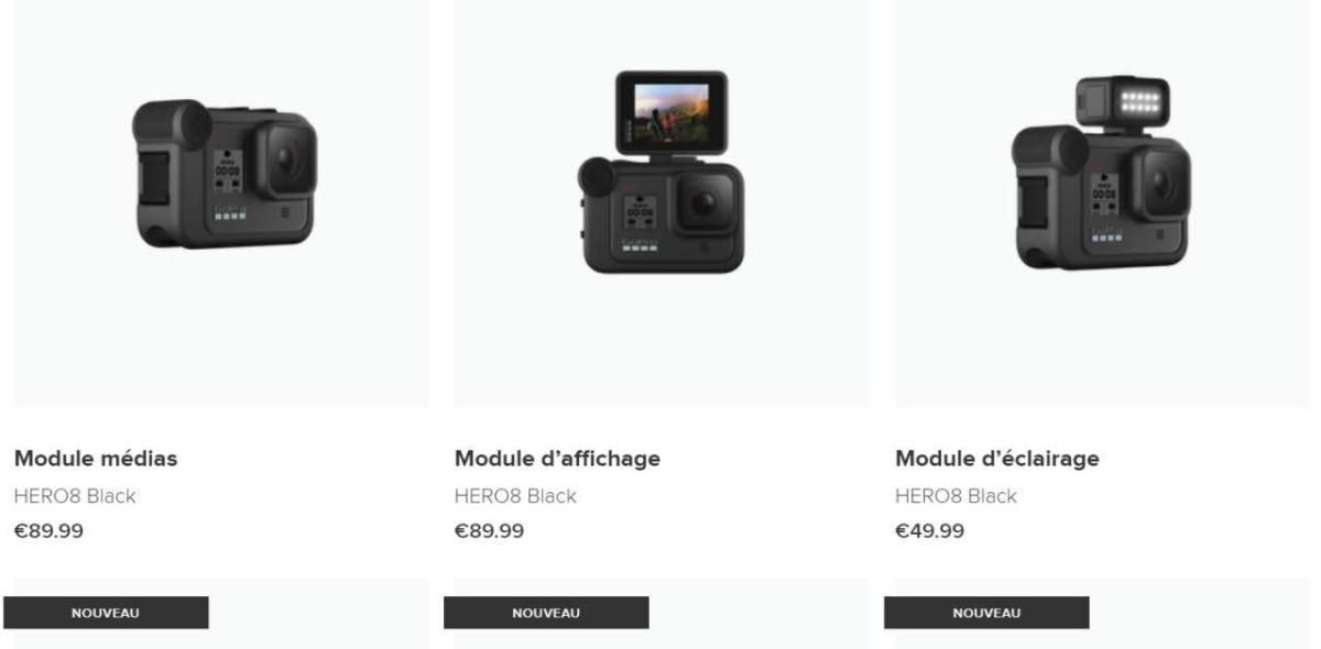 Les «Mods» bientôt proposés par GoPro // Site GoPro