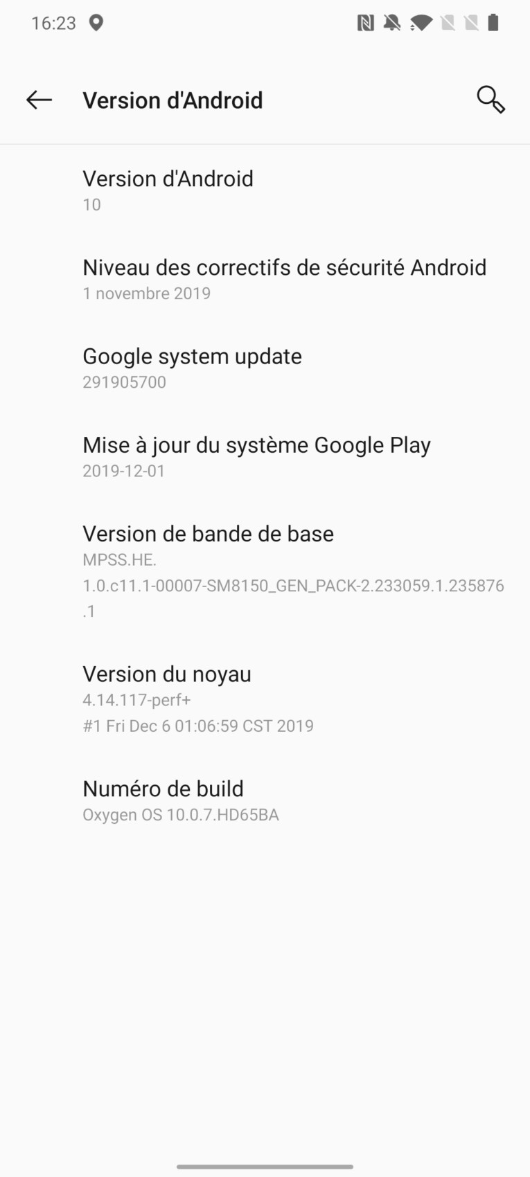 OnePlus 7T version Android
