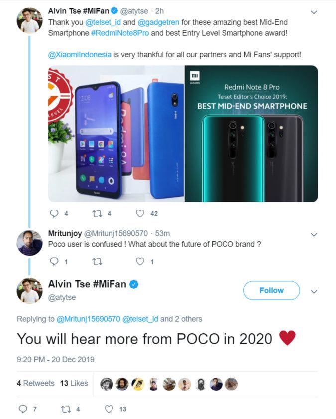 Pocophone F2: une sortie en 2020 est à envisager