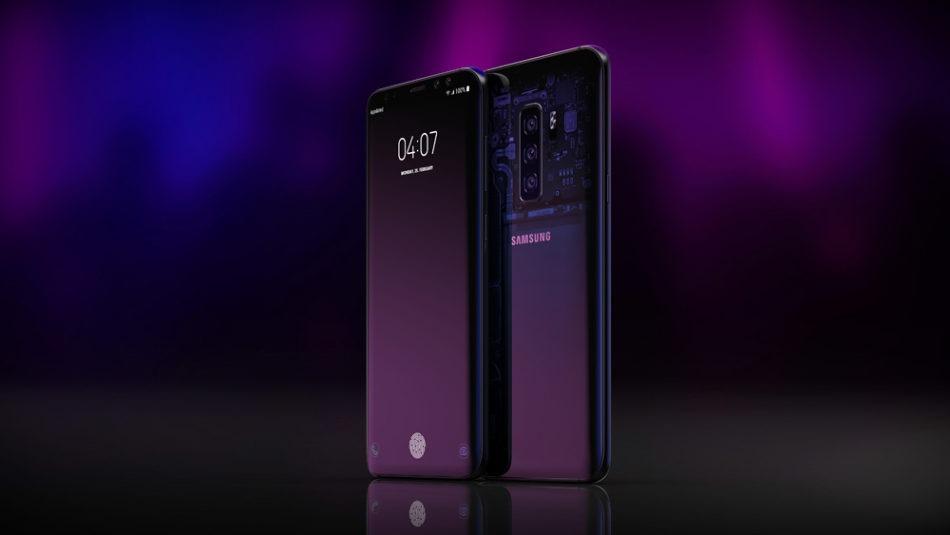 Concept de smartphone Samsung avec le dos transparent