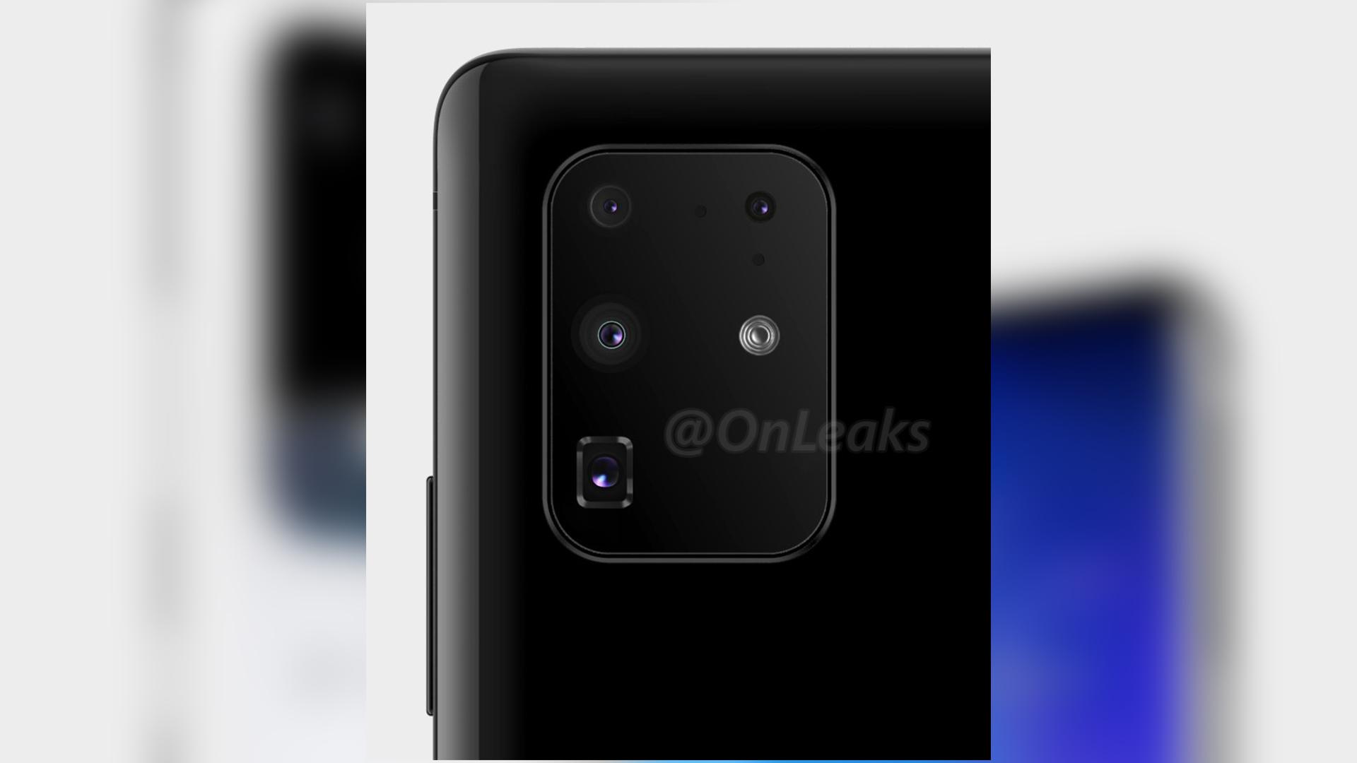 Le module photo d'un modèle Samsung GalaxyS20+
