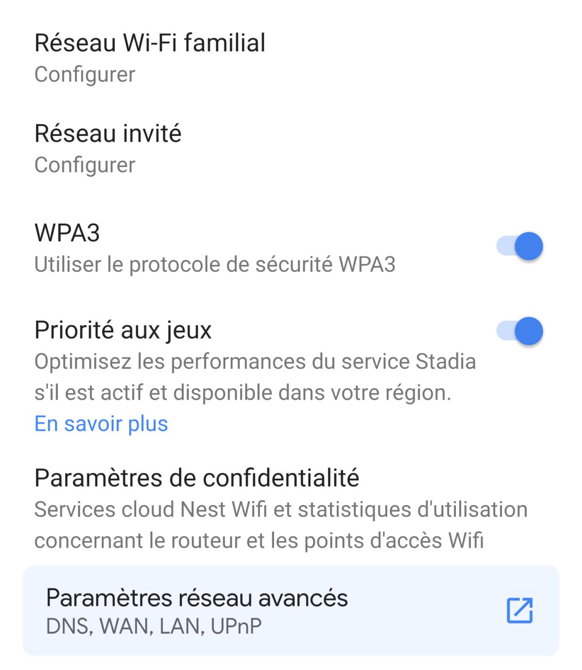 Google Nest Wifi - Priorité aux jeux