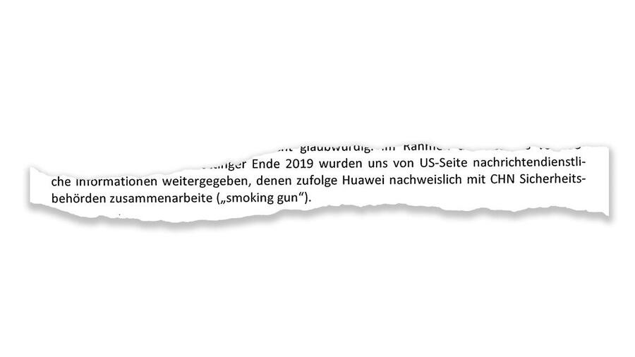 Ici une fraction du document confidentiel consulté par Handelsblatt, actuellement détenu par le ministère fédéral allemand des Affaires étrangères / Crédit: Handelsblatt