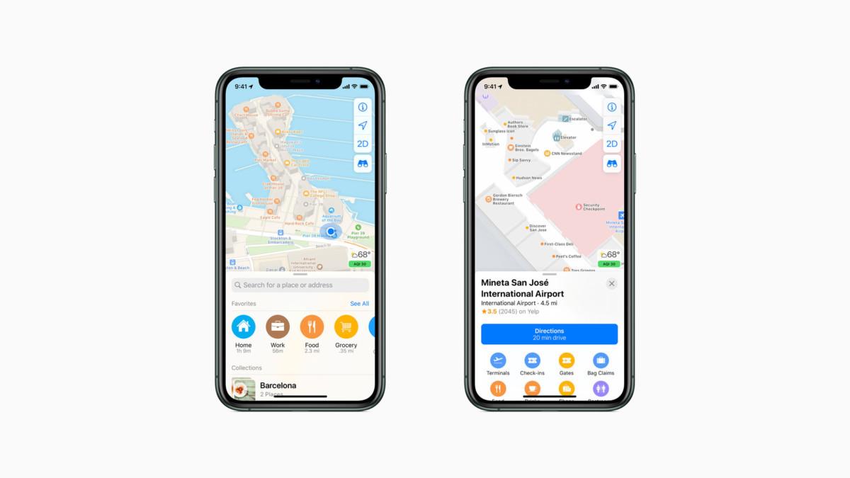 Apple s'appuie sur les données de son application Plans pour lutter contre le Covid-19